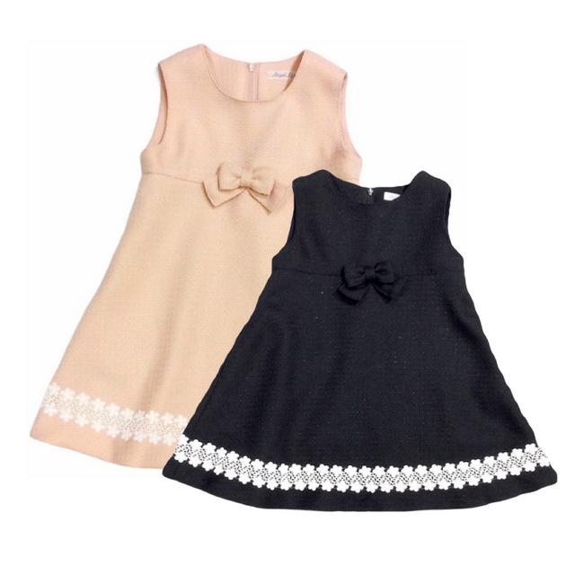 【日本製 子供服】  裾レースジャンパースカート [100~130cm]