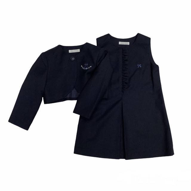 【日本製 子供服】 胸元刺繍 アンサンブル [100~140cm]