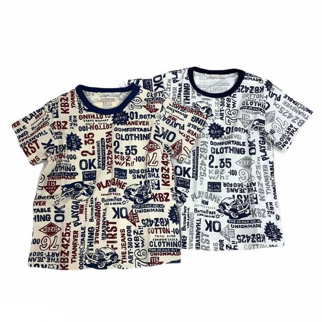 【日本製 ベビー 子供 服】 アメコミ風Tシャツ [80~140cm]