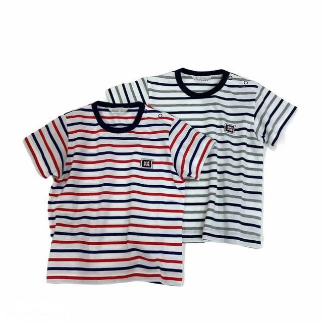【日本製 ベビー 子供 服】 ボーダーTシャツ [80~140cm]
