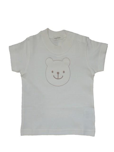 【日本製 ベビー服】オーガニックコットン 100% Tシャツ(くまさん刺繍)