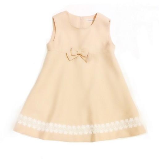 【日本製 子供服】  裾レースジャンパースカート
