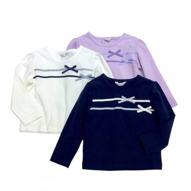 【日本製 ベビー 子供 服】 テープリボン Tシャツ [80~140cm]