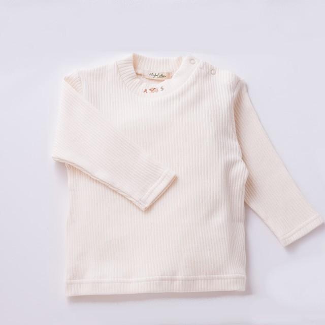 オーガニックコットン やわらかリブ長袖Tシャツ
