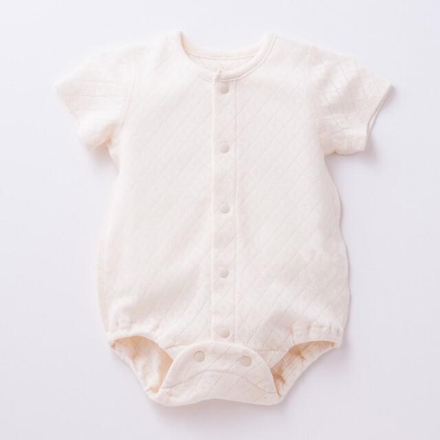 【日本製 ベビー服】オーガニックコットン100%ロンパース型肌着
