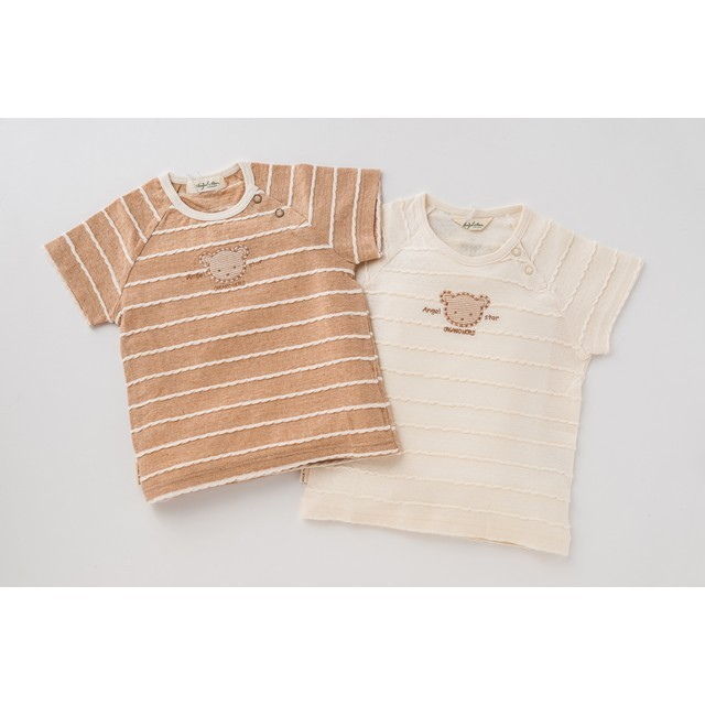オーガニックコットン 半袖タックボーダーTシャツ
