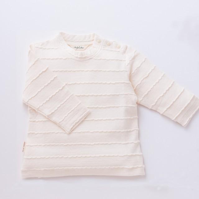 オーガニックコットン タックボーダーTシャツ