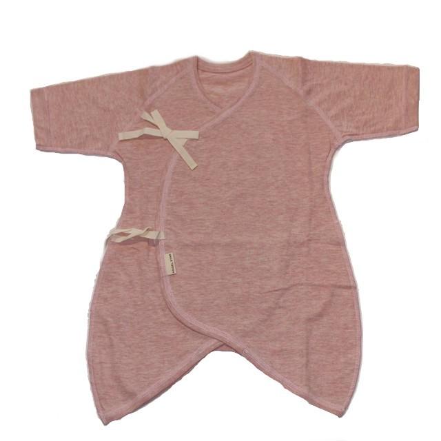 オーガニックコットン100% ボタニカル・ダイ コンビ肌着 新生児用