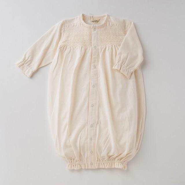 オーガニックコットン スモッキングツーウェイドレス 50cm~70cm