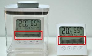 ANKOMN_アンコムン_密閉容器エバーロック_Everlock_湿度計比較