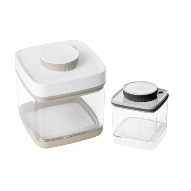 真空保存容器セビア1.5Lと真空保存容器ターンシール(ターンエヌシール)0.6Lのセット