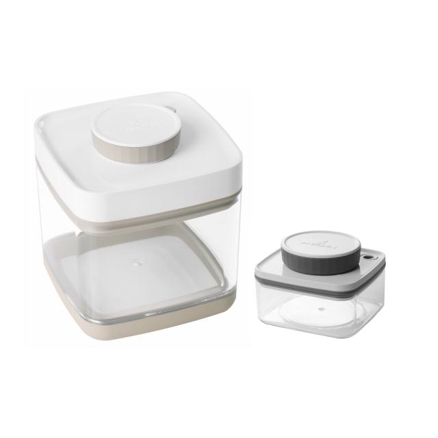 真空保存容器セビア1.5Lと真空保存容器ターンシール0.3Lのセット