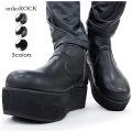 ankoROCKスムースショート厚底ブーツ 3色展開