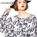 ankoROCK不思議の国のアリスカットソー -メガビッグ-