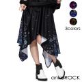 ankoROCK病みかわいいバラバラハングダウンドレープスカート