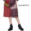 ankoROCKクレイジータータンチェックハーフパンツ -90sスケーター-