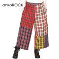 ankoROCK クレイジーチェックワイドパンツ-メガ-