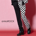 ankoROCK アシンメトリーブロックチェックスキニー -スーパースリム-