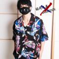【予約】稲荷兄弟×ankoROCKダーティー稲荷ガールズ半袖開襟シャツ -スーパービッグ-