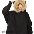 ankoROCKファーフード黒猫モッズコート -スーパービッグ-
