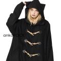 ankoROCK黒猫ビッグダッフルガウンコート
