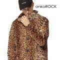 ankoROCK豹柄ファーボリュームネックコート