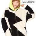 ankoROCK ショートファーキリカエマクリブルゾン -ビッグ&スーパーロングスリーブ-