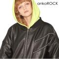 ankoROCK スパンキーリングジップレザーブルゾン -ビッグ&スーパーロングスリーブ-