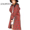 ankoROCK タータンチェックモッズコート -スーパービッグ-