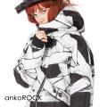 ankoROCK 包帯ボリュームネックフード中綿ジャケット -スーパービッグ-