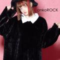 ankoROCKショートファーシャツ襟カットソー -メガビッグ-