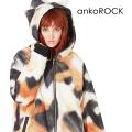 ankoROCK三毛猫ネコ耳ボリュームネックフード中綿ジャケット -スーパービッグ-