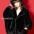 ankoROCK ショートファーブルゾンライダース -オーバーサイズ-
