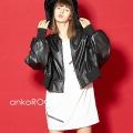 ankoROCK レザースーパーショートブルゾン -オーバーサイズ-