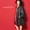 ankoROCK レザーステンカラーコート -オーバーサイズ