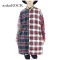ankoROCKクレイジーチェックネルシャツ -スーパーロングビッグ-