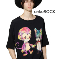 ankoROCK犬猿ホールドハンズTシャツ -メガビッグ-