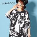 ankoROCK絵画Tシャツ -メガビッグ-
