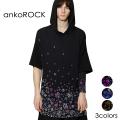 ankoROCK病みかわいいバラバラフーディーTシャツ -メガビッグ-