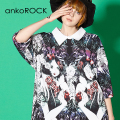 ankoROCK白雪姫シャツ襟Tシャツ -メガビッグ-