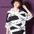 ankoROCK包帯シャツ襟Tシャツ -メガビッグ-