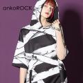 ankoROCK包帯半袖プルオーバーパーカー -スーパービッグ-