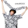 ankoROCK不思議の国のアリス半袖ウサ耳プルオーバーパーカー エクスクルーシブ -スーパービッグ-
