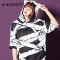 ankoROCK包帯半袖ネコ耳プルオーバーパーカー -スーパービッグ-
