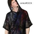 ankoROCKメッシュフーディーTシャツ -メガビッグ-