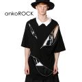 ankoROCKクレイジージップシャツ襟Tシャツ -メガビッグ-