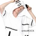 ankoROCK縫合ゾンビパンダプルオーバー半袖パーカー -スーパービッグ-