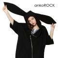 ankoROCKウサ耳半袖ライダースパーカー -スーパービッグ-