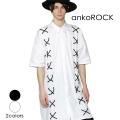 ankoROCKレースアップ半袖シャツ -スーパーロングビッグ-