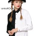 ankoROCKアシンメトリーモノクロシャツ -タイト-